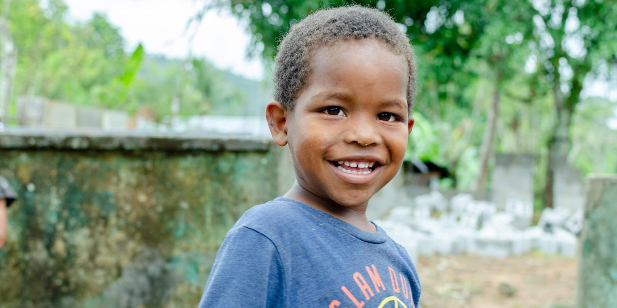 Young boy in Haiti